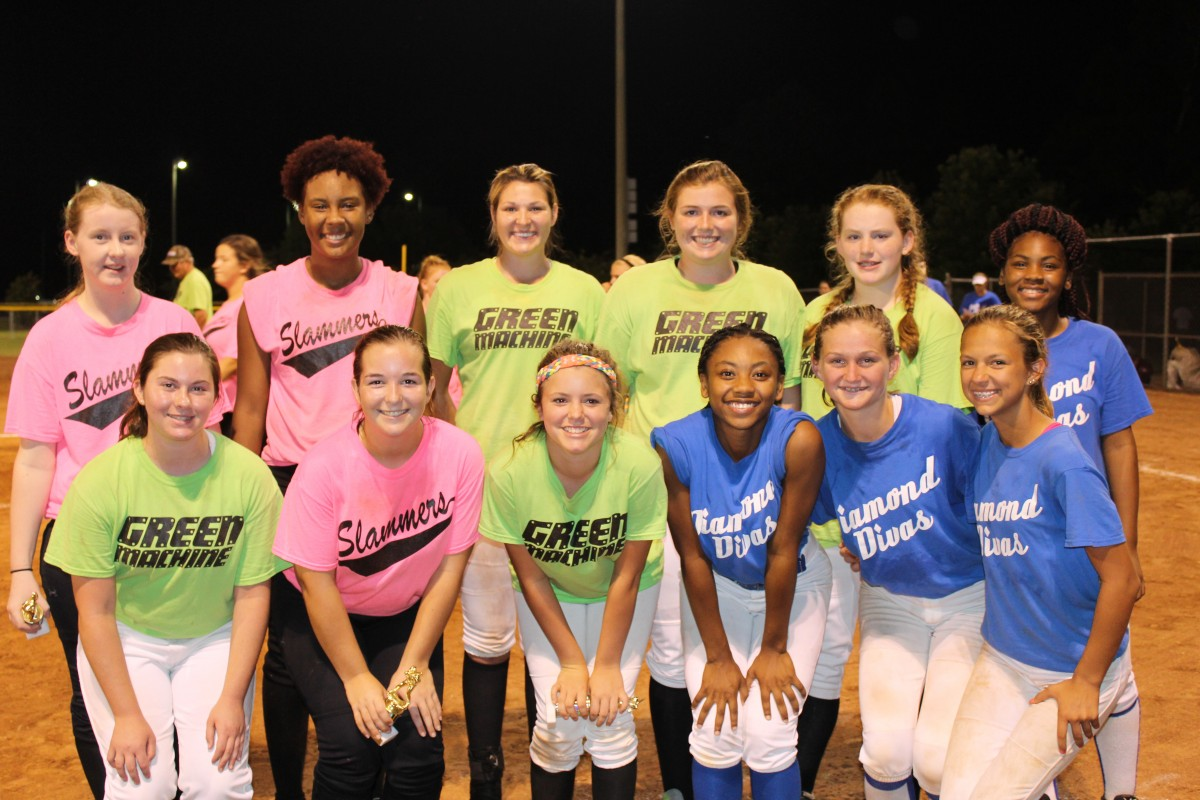 The Greenville Parks and Recreation Department's Debs and Belles teams finished up play Tuesday. The Slammers were recognized as the league champions and MVPs and Sportsmanship awards were presented to two players from each team for the Debs and Belles age groups. The All-Star teams were also announced. The 2016 Greenville Dixie Belles All-Stars are pictured, above, left to right, front row, Bonnie Houston, Lara Beth Blackmon, Madison Covan, Kami Shufford, Anna Blake Langford, and Alex Little; back row, left to right, Andrea Dearden, Courtney Powell, Savannah Shufford, Gracie Whiddon, Shelby Lawrence and Jaqueta Adams. The 2016 Greenville Dixie Debs All-Stars are pictured below, front row, left to right, Caitlin Lee, Kaitlyn Padgett, Danielle Scott, Kristian Ballard and T.C. Boutwell; back row, left to right, Jodie Lowe, Ashlyn McKeown, Amber Macks, Emily Brown, Olivia Foster, Savannah Mauch, and Knightlyn Mosley. Both teams will play in the state tournament hosted by Greenville Parks and Recreation July 8-12. Opening ceremonies will be July 8 at 7:30 p.m. at the Softball Complex. Both teams will play on Saturday. The Dixie Debs will play Smiths at 9 a.m. and the Dixie Belles will play Troy All-Stars at 1 p.m. (Photos by Tori J. Norris)