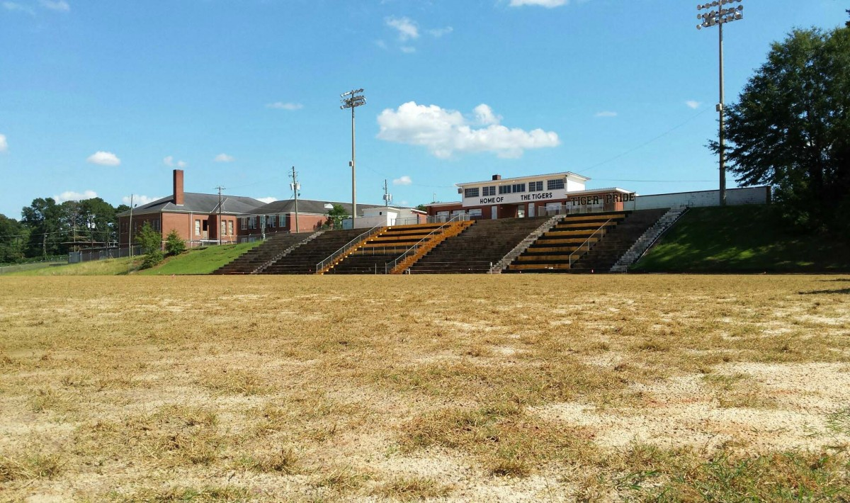 Tiger Stadium's field has undergone major renovations in the last month. (Photo by Mollie S. Waters)
