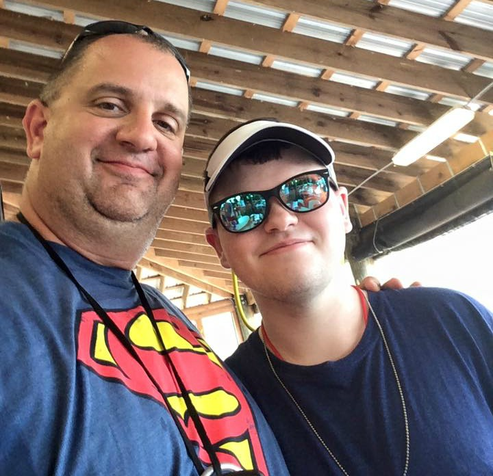 Dylan Boswell (right), who has Juvenile Arthritis, at Camp MASH (Make Arthritis Stop Hurting) with Michael Schultz (left), a camp mentor. (Photo submitted)