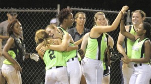 There were a lot of high fives, smiles and hugs after Greenville's win over Dothan. (Cecil Folds | The Standard)
