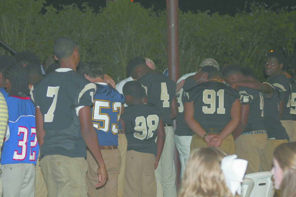 Encouragers, volunteers from local churches, were on hand to pray with students following the program. (Tori J Norris | The Standard)