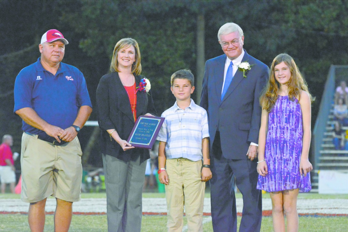 Fort Dale Academy Headmaster David Brantley inducted in the Hall of Fame. (Cecil Folds/The Standard)