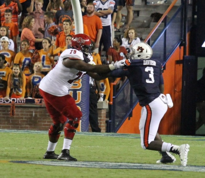 After a slow offensive showing against Clemson in their season opener, Auburn blasted Arkansas State for a 51-14 win Saturday night in Auburn. Former Greenville High School standout Marlon Davidson (3) saw some playing time for the Tiger defense. Auburn dives into Southeastern Conference action this Saturday with a match up against Texas A&M. (Cecil Folds | The Standard)