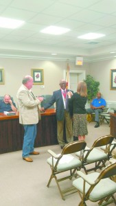 Pictured is Mayor Dexter McLendon presenting Jeddo Bell with an award from the Andalusia High School Outstanding Graduate Committee.(Nicole Norris/The Standard)