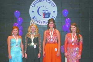 Lear, second from left, with other pageant contestants. (Submitted)