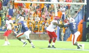 Marlon Davidson against Arkansas. (Standard Files)