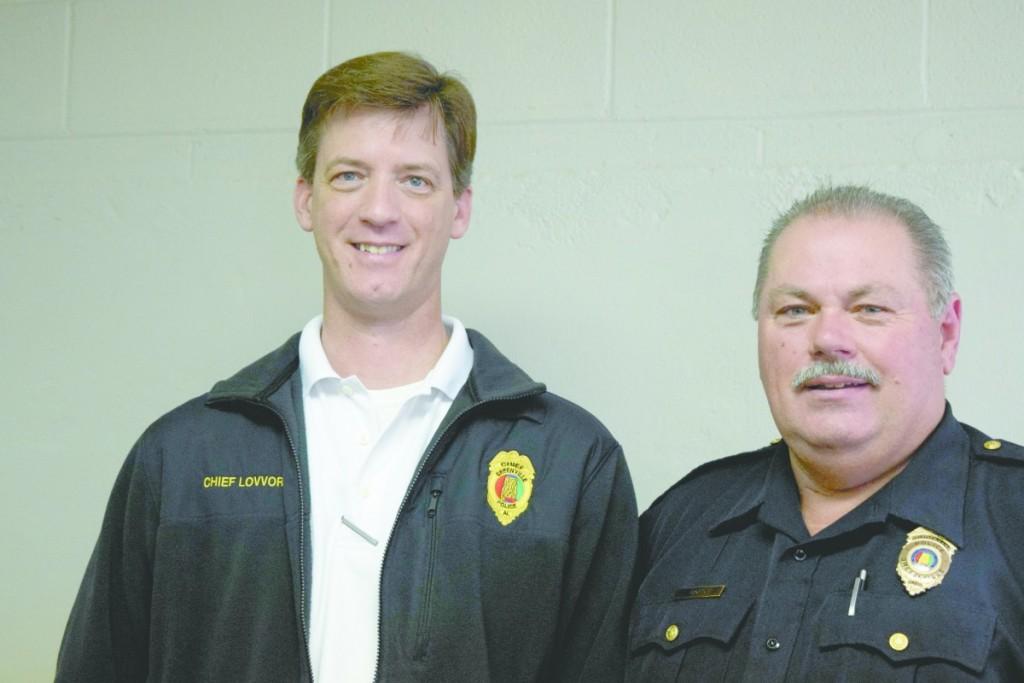 GPD Police Chief Justin Lovvorn, left, and Lt. Danny Bond. (Jennifer Clontz/The Standard)