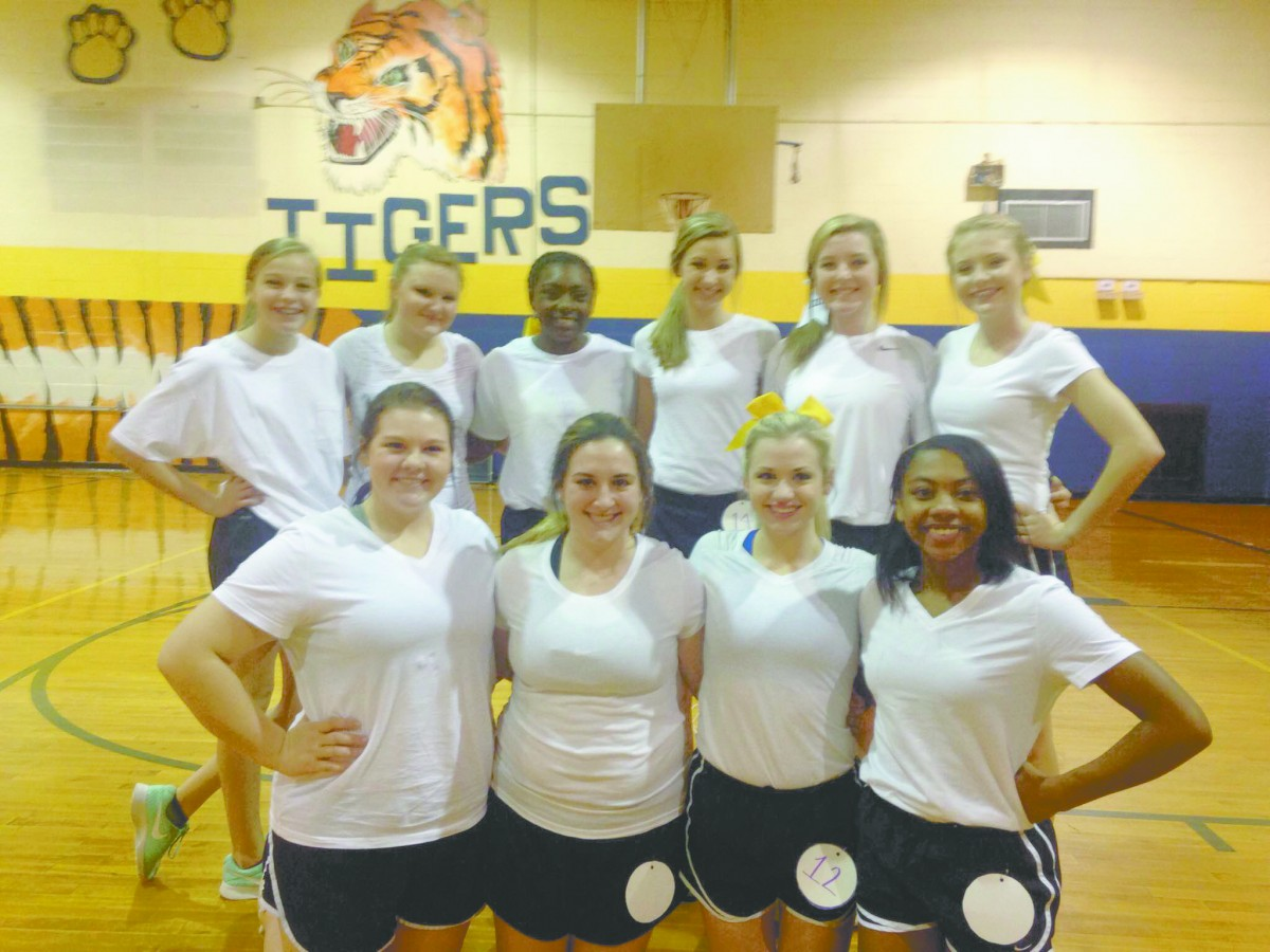 McKenzie High School held tryouts last Friday for the 2017-2018 school year. MHS Tiger Cheerleaders are, front row left to right Maggie Brown, Olivia Nelson, Camryn Reaves (Co-Captain) and Kami Shufford (Captain). Back row, left to right, Abby Little, Grace Johnson, JaNaudia Johnson, Payton Davis, Bentley Horton and Kamryn Skipper. (Tori J. Norris |The Standard)
